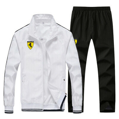 Men Outdoor Train TrackSuit Sport  Thin Jacket  Top Suit Trousers Pants 5 Color