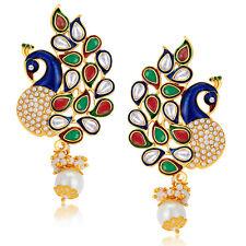 Sukkhi Charming Peacock Gold Plated Australian Diamond Earrings(6083EADP570)