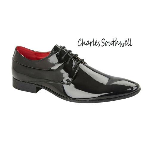 Hommes Smart Patent Office Work Oxford en cuir synthétique Formelles Chaussures UK 7 8 9 10 11 12
