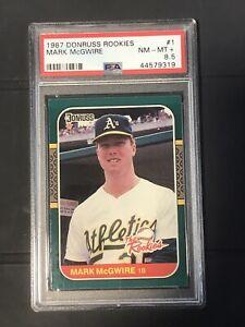 Mark McGwire 1987 Donruss Baseball The Rookies #1 Rookie Graded PSA 8.5 RC