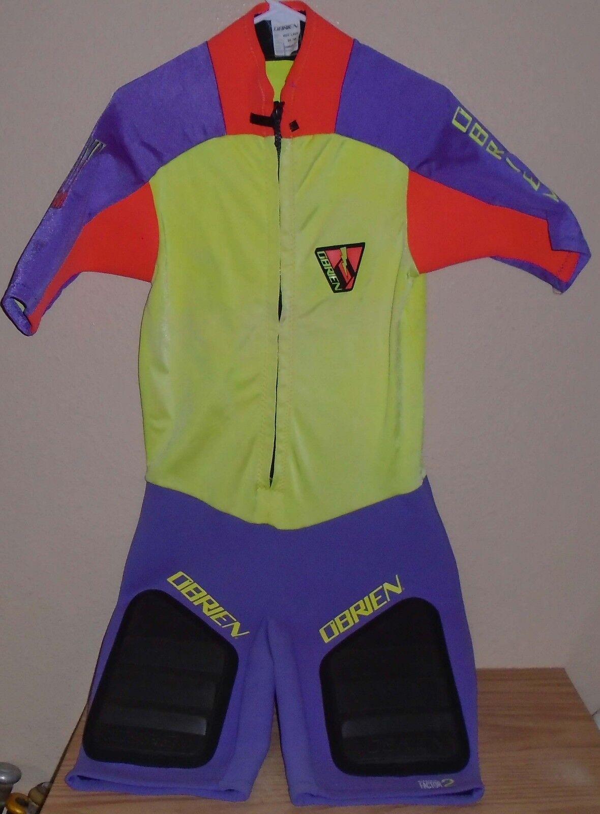 O'Brien Hot Lava Short Wetsuit -yellow & Purple - Sz  Medium
