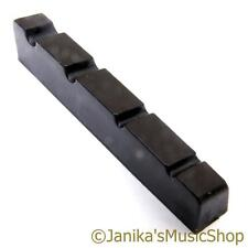 Black 4 string bass guitar fret end nut 42x6mm good quality for standard strings