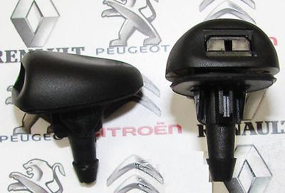 Yinettech 2 x Front Windscreen Fog Washer Spray Jets for Peugeot Citroen Fiat
