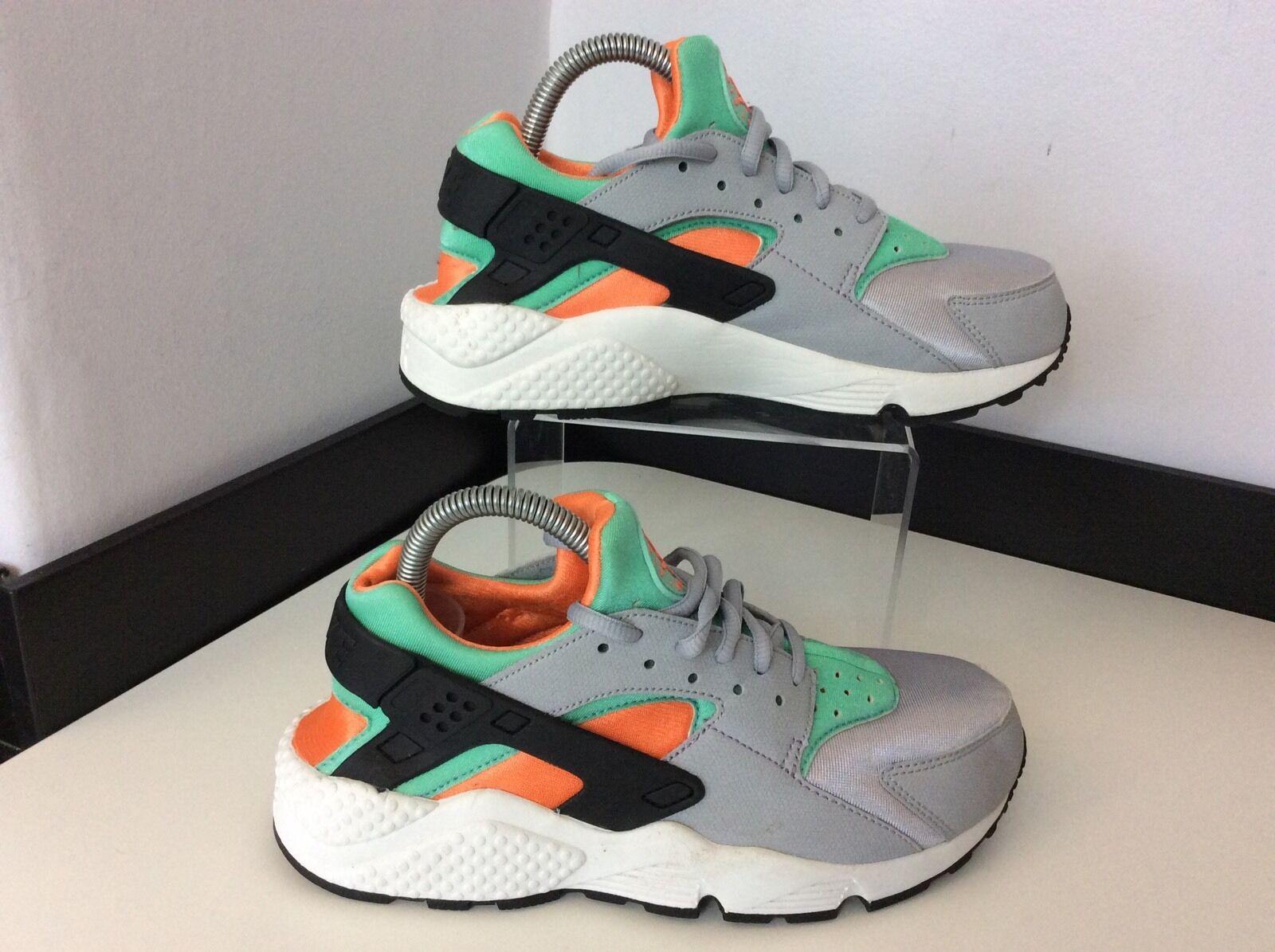Nike Air Huarache Trainers Size 38.5 Uk 5 Vgc Unisex Running Fitness Grey