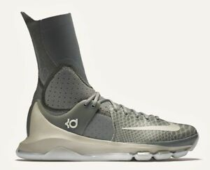new product 52a65 83867 Image is loading NIKE-KD-8-Elite-Tumbled-Grey-Basketball-Shoes-