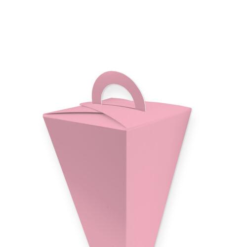 itenga Set 24x Geschenktüten 14cm Rosa Fisch Geschenk Kommunion Konfirmation