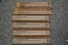 6 Genuine Ricoh Savin Lanier Print Cartridges MP C2551/C9125/LD625C CMY