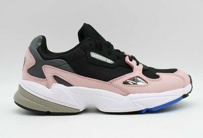Adidas Women's Falcon Core Black Light Pink Running Shoes B28126 NEW | eBay