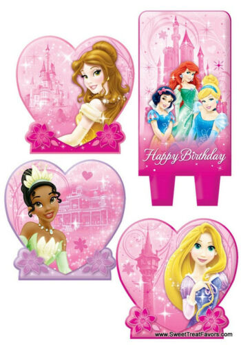 PRINCESS Party Birthday Favors Candle Cake Cupcake Topper Kit Belle Decoration