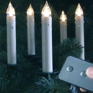 led weihnachtsbaum kerzen slim line kabellos 10er warmweiss 13868 ebay. Black Bedroom Furniture Sets. Home Design Ideas