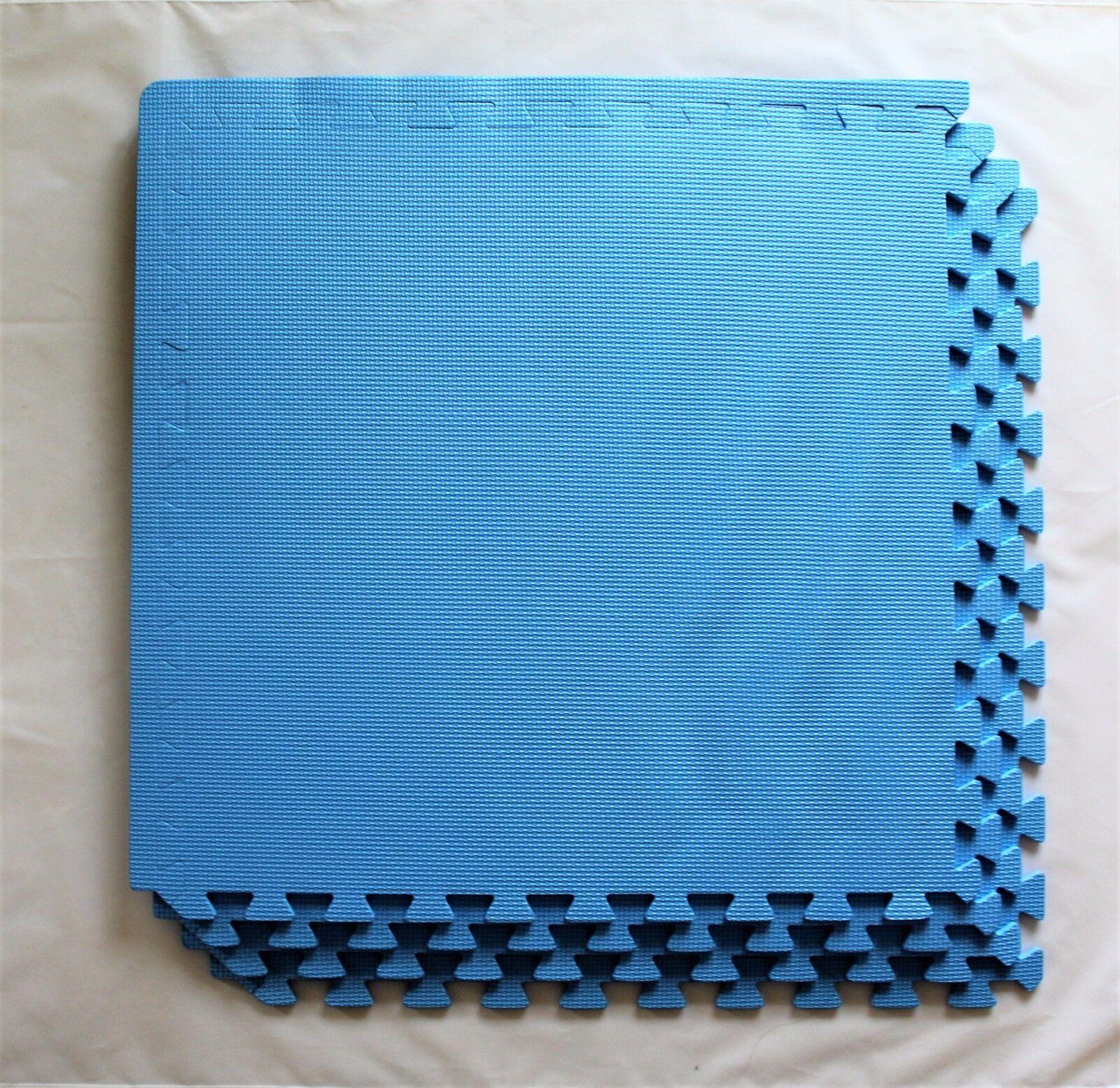 Marko EVA Blue Mat Foam Interlocking 60cm Floor Mats Gym Work Home