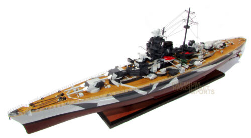 "Quality Handcrafted Tirpitz 39/"" Wooden Warship Ready Display Model"