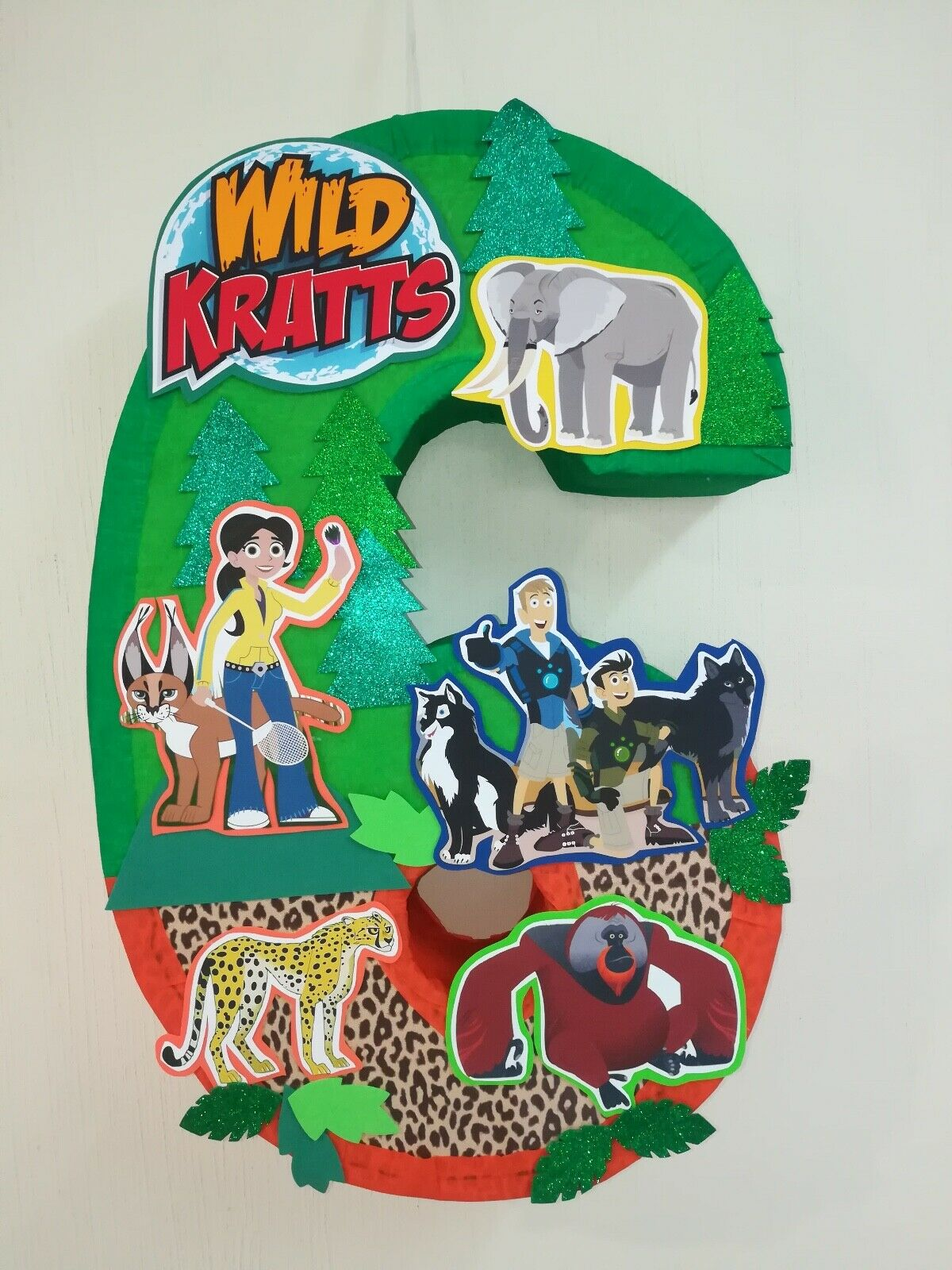 Peachy Wild Kratts Pinata Birthday Party Wild Kratts Birthday Personalised Birthday Cards Akebfashionlily Jamesorg