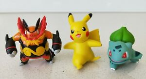 Original-Tomy-Pokemon-Pikachu-Bulbasaur-amp-Emboar-Figures-x3-New-Without-Tag