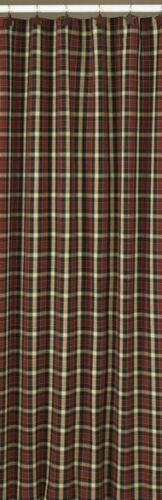 Country Concord Shower Curtain Red, Black, Tan 72x72 Cotton Park Designs