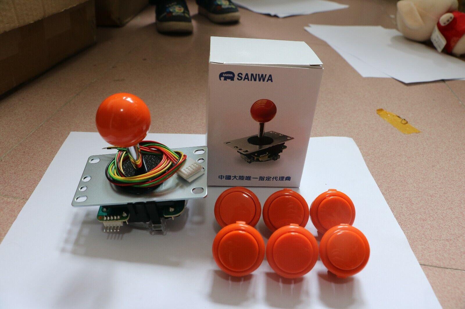 Original Sanwa PushButton OBSF-30 30mmArcade Jamma Game JoystickSwitch Purple 2