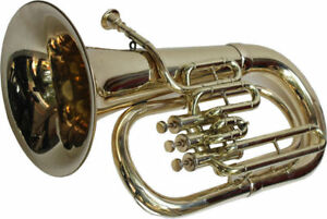 EUPHONIUM-MINI-TUBA-WITH-3-VALVE-BRASS-FREE-CASE-amp-M-P-BRASS-POLISH-BRAND-NEW
