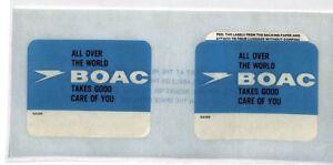 Adaptable Ce40 Boac Vol étiquette-afficher Le Titre D'origine