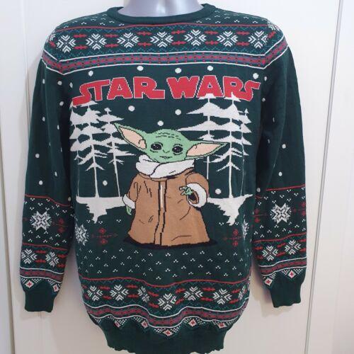 Star Wars Baby Yoda Boys Kids Christmas Soft  Jumper Sweatshirt Primark