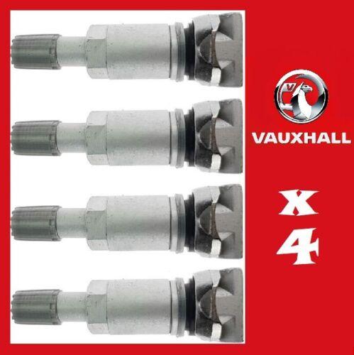 4x Sensor de Presión de Neumáticos TPMS Kit de reparación de Vástago de Válvula Opel Astra Corsa Insignia