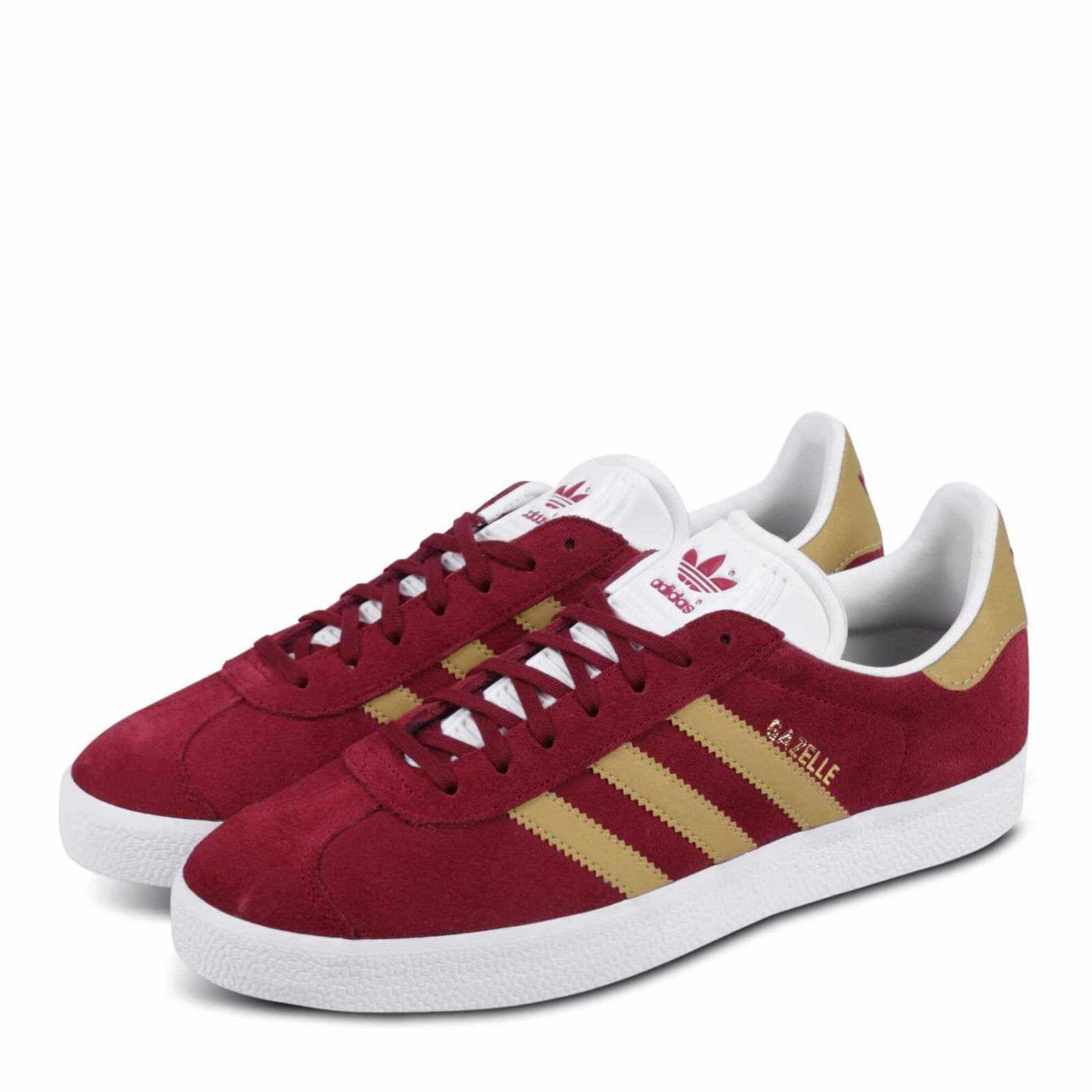 Neuf Adidas Gazelle Daim Bordeaux CP9706 Baskets Taille UK 5
