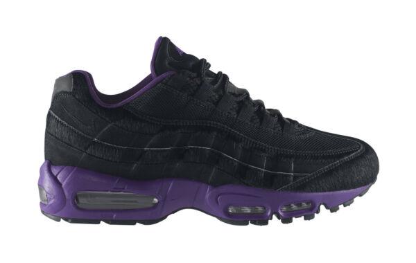 7f3cb5daf8 Nike Air Max 95 Black-black-club Purple Sz 11 Horse Hair RARE 609048-025  for sale online | eBay