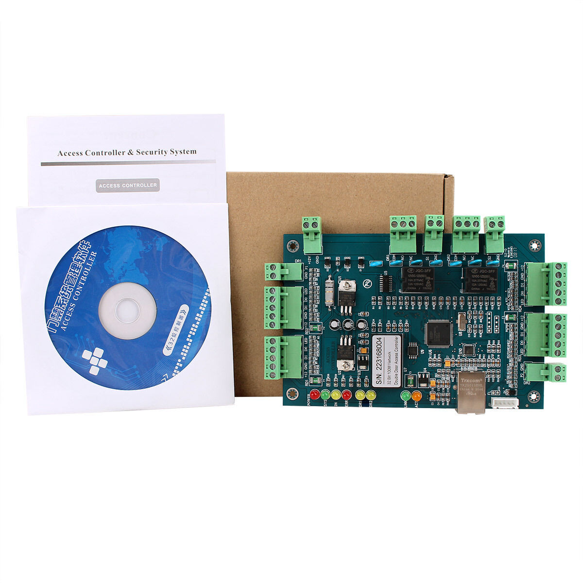 TCP IP Access Controller Panel Support video capture function For 2Door 4 Reader