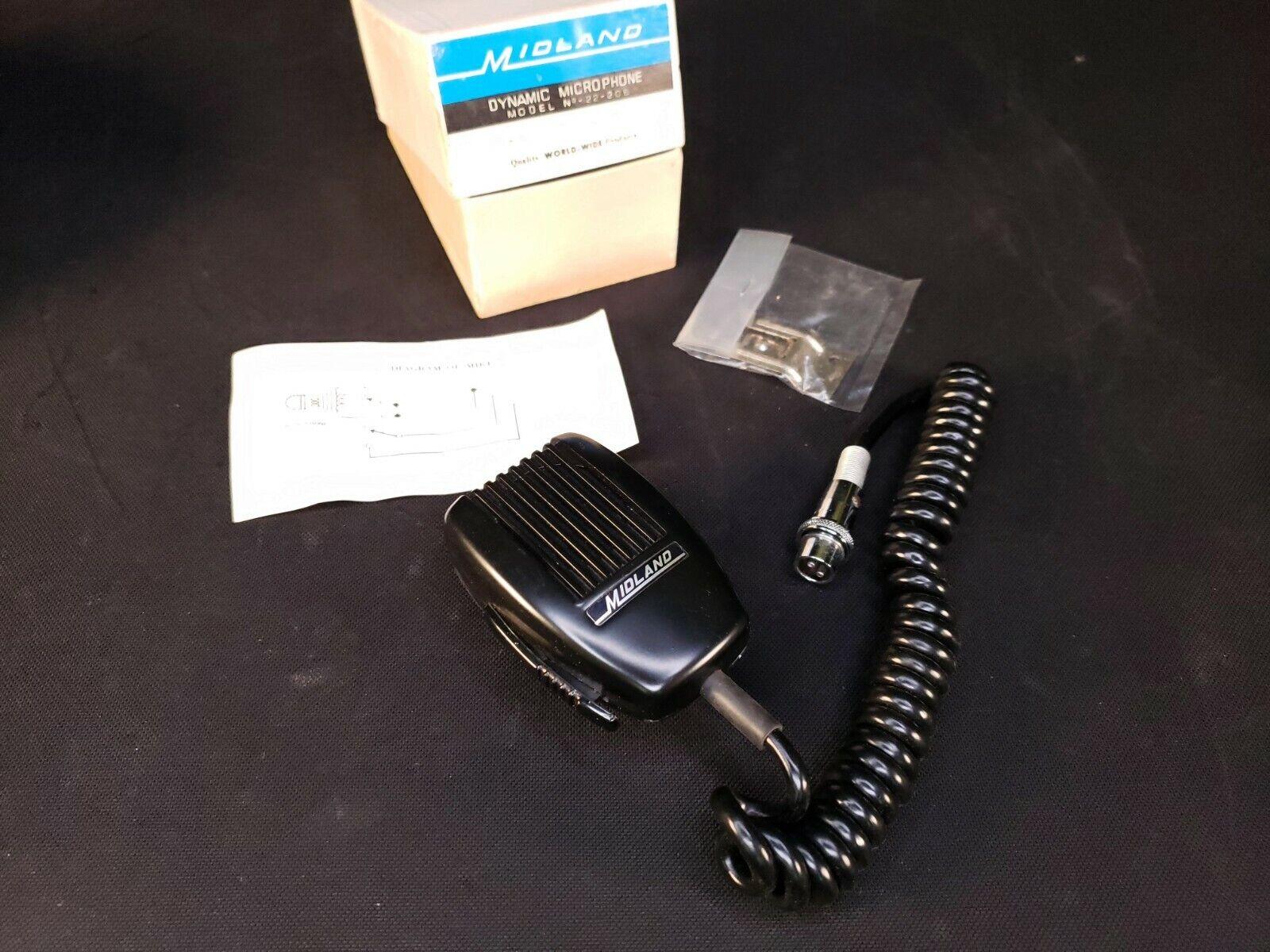 22-206 high_tech_stuff Vintage Midland Dynamic Microphone Model 22-206 CB PTT Mic - NEW OLD STOCK