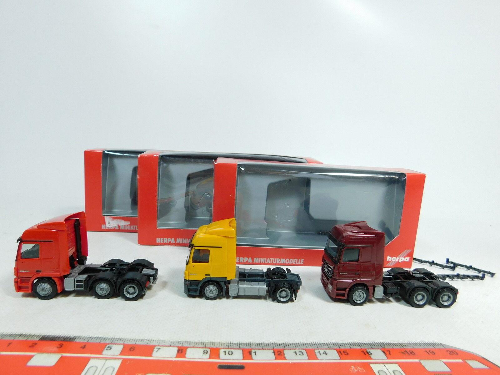Ax690-0, 5  3x HERPA h0 (1 87) tracteur MB  153874+150460+151399, Neuw + OVP