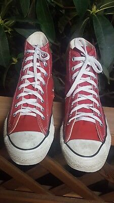 Vintage 90's Converse Made in USA Hi Top Red All☆Star Chuck Taylor Men's 7.5 US | eBay