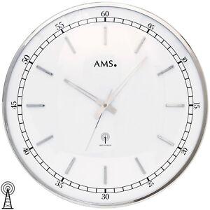 AMS-5608-Wanduhr-Funk-Funkwanduhr-analog-silbern-rund-ca-40-cm