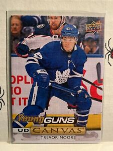 2019-20-UD-Canvas-Young-Guns-Trevor-Moore-Toronto-Maple-Leafs-Rookie-C216