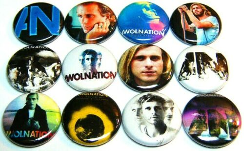 """Awol Nation OG SAIL AN Pinbacks 1/"""" Pins Badges One In Buttons 12 AWOLNATION"""
