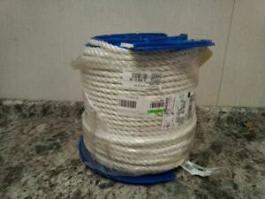 Brand Name 530200-00600 600 Ft L 5//8 In Rope Dia White General Utility Rope