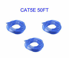 3 X 50 FT RJ45 Cat5e Ethernet LAN Network Cable for PC PS4 Xbox Internet Router