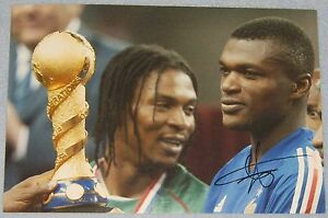 Marcel Desailly Chelsea  AC Milan  France signed picture football - <span itemprop='availableAtOrFrom'>Chelmsford, United Kingdom</span> - Marcel Desailly Chelsea  AC Milan  France signed picture football - Chelmsford, United Kingdom