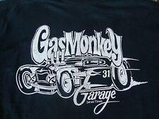 Gas Monkey Custom Hot Rod Garage Dallas Texas TX Automobile Fan T Shirt L