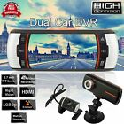 2.7 Dual Lens Car Vehicle 1080P HD Dash Camera DVR Cam Night Vision Recorder UK
