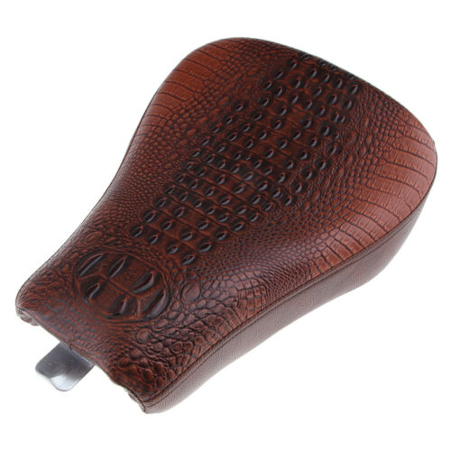 Brown Motorcycle Leather Solo Front Driver Seat for Harley 72 48 XL1200