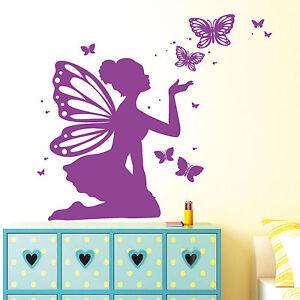 12223 Wandtattoo Elfen Prinzessin Schmetterlinge Aufkleber Sticker Kinderzimmer Ebay