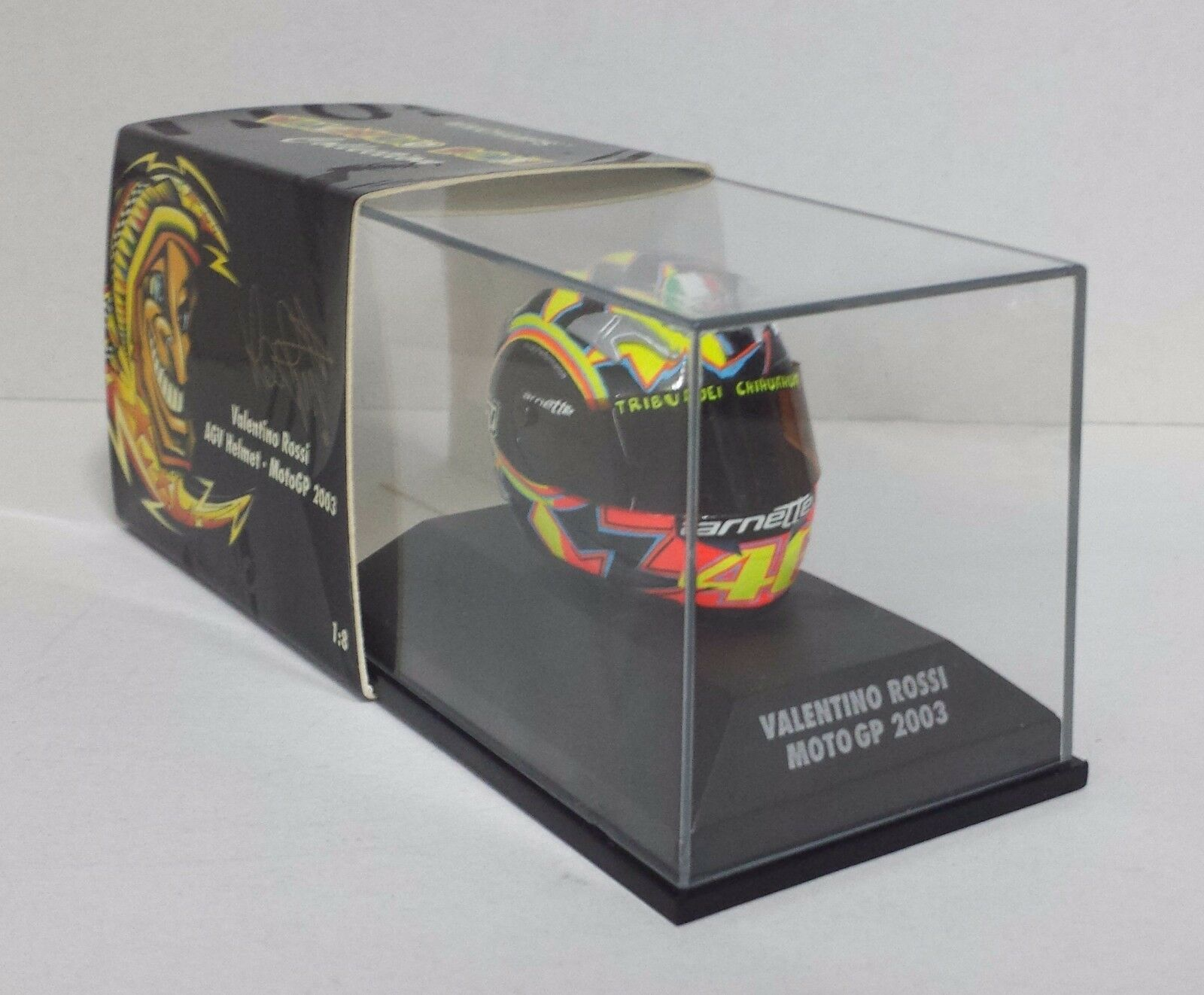 solo cómpralo Minichamps Minichamps Minichamps Valentino Rossi AGV Casco Helmet 1 8 World Champion Motogp 2003 Raro  Obtén lo ultimo