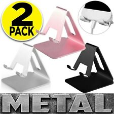 2 Pack Metal Cell Phone Stand Phone Holder Desk Mount Dock Cradle For Iphone
