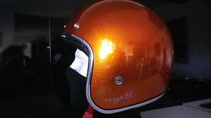 OPEN-FACE-VINTAGE-MOTORCYCLE-SCOOTER-HELMET-SIZE-S