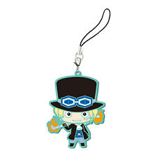 One Piece Sabo Rubber Phone Strap NEW