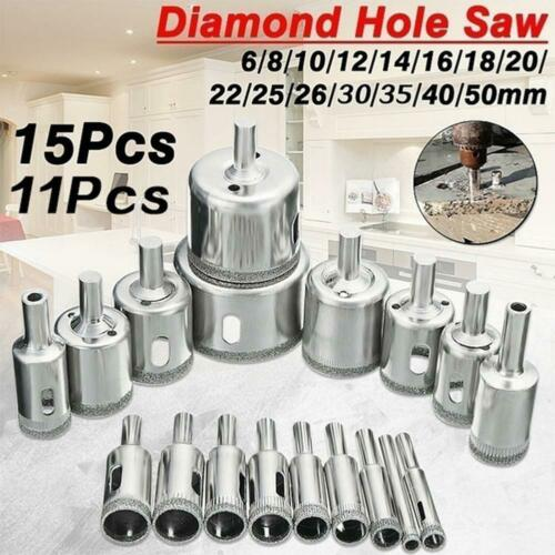 11//15*Diamond Coated Hole Saw Drill Bits For Glass Ceramic Marble Cutting Tools