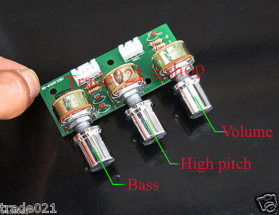 Tone Volume Bass Treble Control Board 3-Channel Subwoofer 2.1 Amplifier