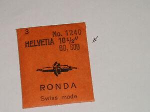 Helvetia balance staff 80 85 800 axe de balancier Unruhwelle Ronda 1240