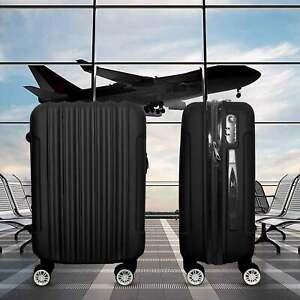 Trolley Rigido Da Viaggio Bagaglio a Mano Nero Voli Ryanair EasyJet 55x35x20 cm