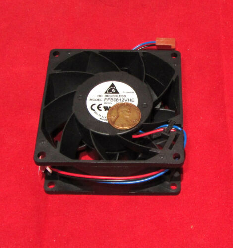 57 CFM PC//CPU Cooler 570mA 4200 RPM FFB0812VHE Delta 12V DC Cooling Fan