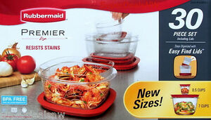 RUBBERMAID-PREMIER-30-PIECE-SET-Food-Storage-Container-Stain-Resistant-BPA-FREE